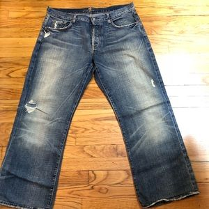 Seven relaxed button fly jeans (36)